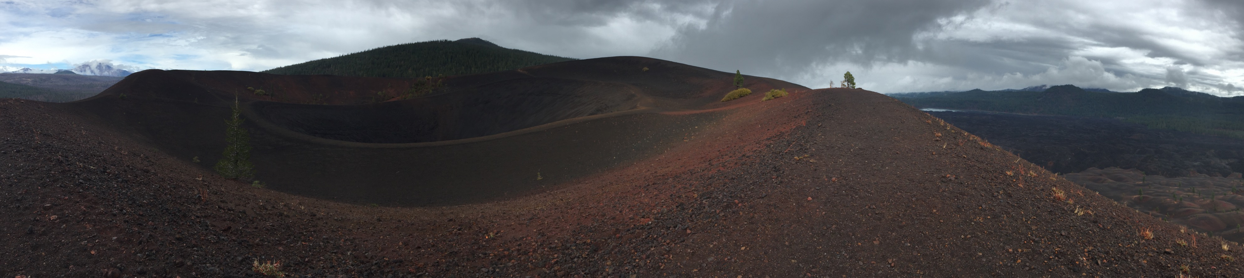 A panorama view of the caldera